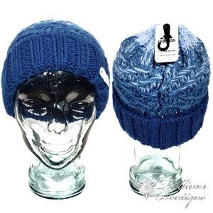 Adidas Women's Climawarm Blue Cuffed Hat OSFW